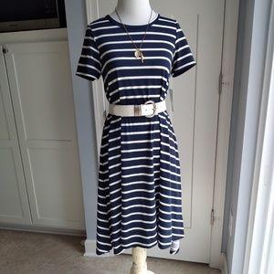 2019 Lularoe XXS CARLY navy & white stripes
